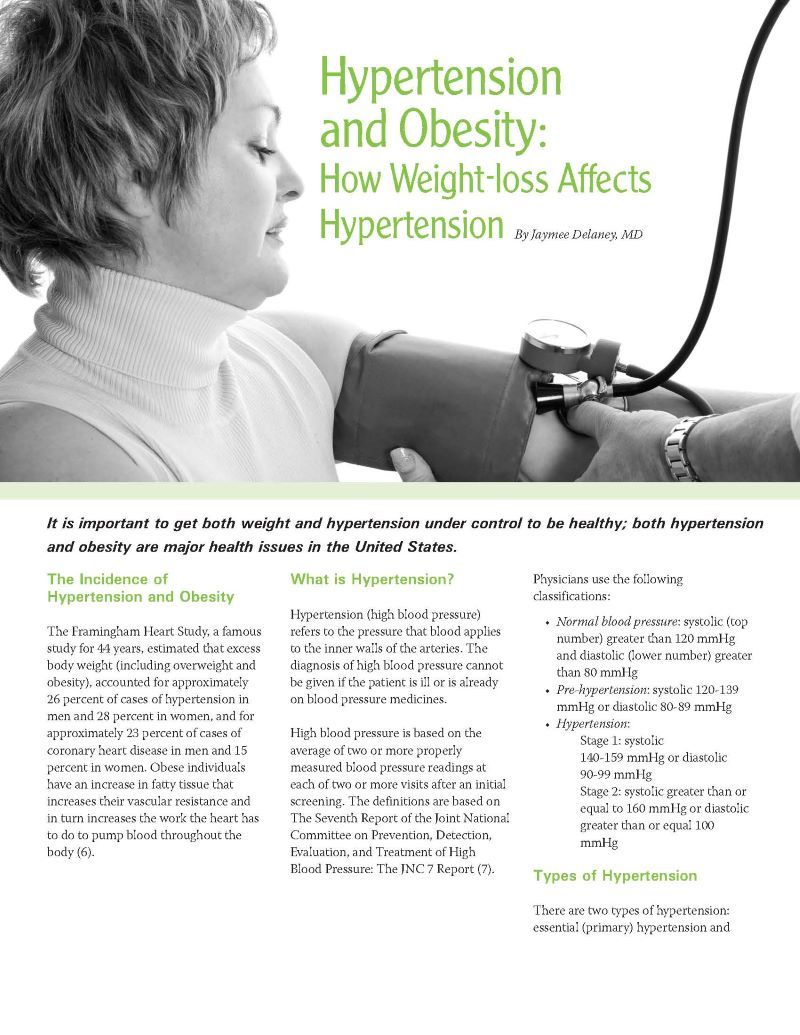 Hypertension And Obesity How Weight Loss Affects Hypertension Obesity Action Coalition