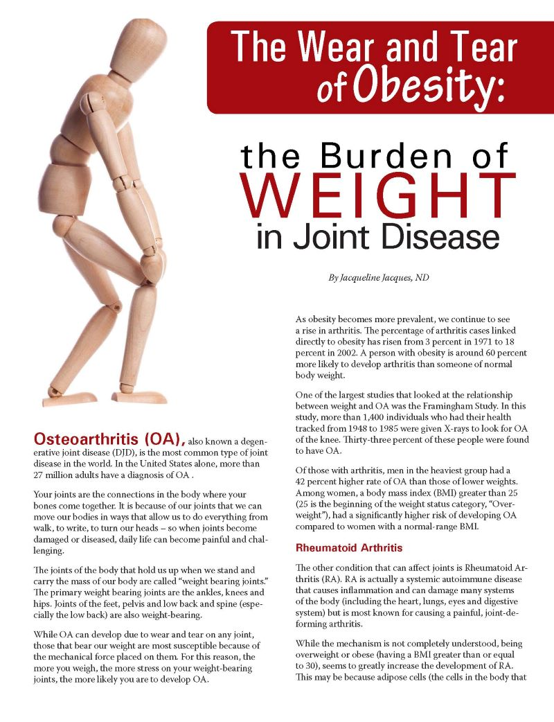 The Wear And Tear Of Obesity The Burden Of Weight In Joint Disease Obesity Action Coalition