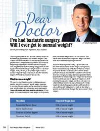 Dear Doctor I Ve Had Bariatric Surgery Will I Ever Get To Normal
