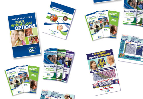 Various brochure and guide covers
